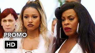 """Claws 1x08 """"Teatro"""" Season 1 Episode 8 Promo - With a shocking revelation affecting the entire crew, Jennifer (Jenn Lyon) finds unexpected solace in her square-dancing instructor, Hank (Hunter Burke). Polly (Carrie Preston) uses all of her powers of bad for good, for the first time, while Quiet Ann (Judy Reyes) is torn about a big decision. Scary times are in store for Virginia (Karrueche Tran), but for Desna (Niecy Nash) most of all. Subscribe to tvpromosdb on Youtube for more Claws season 1 promos in HD!Claws official website: http://www.tntdrama.com/shows/claws.htmlWatch more Claws Season 1 videos: https://www.youtube.com/playlist?list=PLfrisy2KXzkdWTmAbTp3YMrrKRQFeraYgLike Claws on Facebook: https://www.facebook.com/ClawsTNTFollow Claws on Twitter: https://twitter.com/ClawsTNTFollow Claws on Instagram: https://www.instagram.com/ClawsTNTClaws 1x08 Promo/Preview """"Teatro""""Claws Season 1 Episode 8 PromoClaws 1x08 Promo """"Teatro"""" (HD)» Watch Claws Sundays at 9:00pm on TNT» Starring: Niecy Nash, Karrueche Tran, Carrie Preston, Dean Norris, Harold PerrineauContribute subtitle translations for this video: https://www.youtube.com/timedtext_video?v=QFYx6ZKNlM8"""