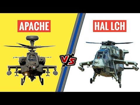 Watch HAL LCH Vs Apache Helicopter...