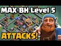 Max Builder Hall Attacks - Level 5 BH5 Gameplay | Clash of Clans New Update 2017