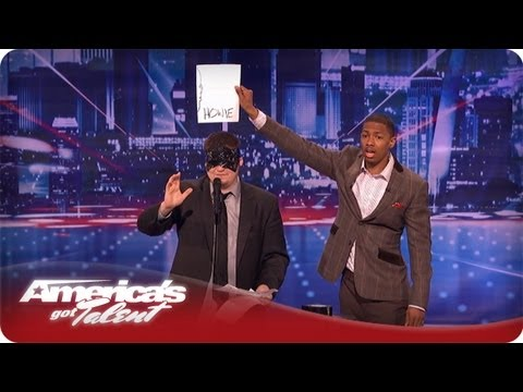 agt - America's Got Talent Mondays & Tuesdays on NBC Subscribe Now for More AGT: http://full.sc/IlBBvK Psychic Eric Dittleman blindfolds himself and then tries to ...