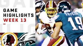 Redskins vs. Eagles Week 13 Highlights | NFL 2018