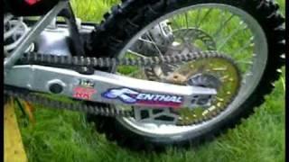 9. My 2004 Kawasaki KX250F Walk around and Engine Start (Monster Graphics)