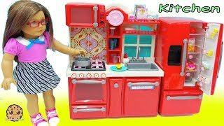 Video American Girl Cooking Playdoh Food + Surprise Blind Bags In Doll Kitchen MP3, 3GP, MP4, WEBM, AVI, FLV Juni 2019