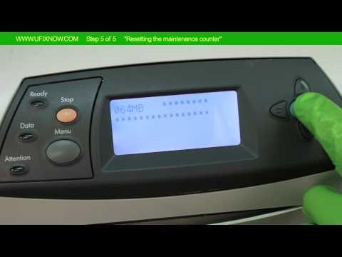 HP Laserjet 4350 Series - Resetting the maintenance counter Step 5