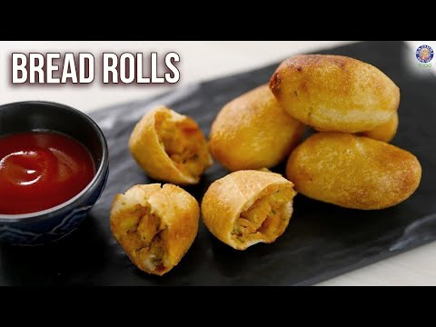 How To Make Bread Rolls | Bread Snacks Recipe | Crispy Bread Roll | Philips Air Fryer | Varun