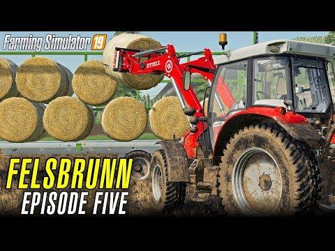 BALE TRANSPORTATION | Let's Play Farming Simulator 19 | Episode 5
