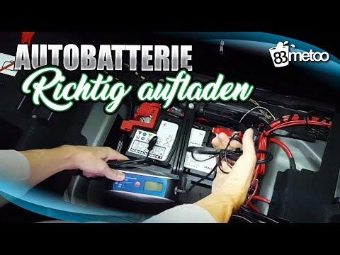 Autobatterie aufladen Autobatterie wieder aufladen mit einem Batterieladegerät