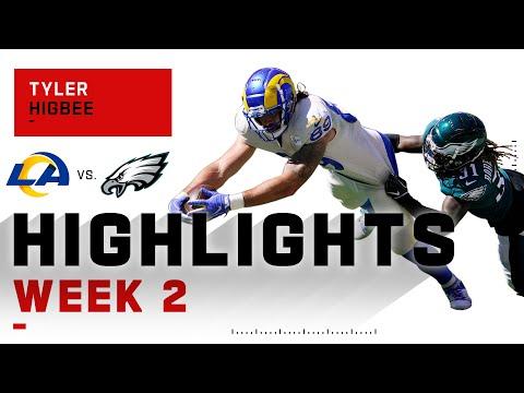 Tyler Higbee Rams Through Eagles w/ 3 TDs | NFL 2020 Highlights