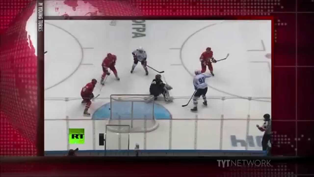 "Vladimir Putin Plays In ""Real"" Hockey Game"