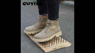 Manufacturer warehouse oil resistant price brand industrial safety shoes youtube video