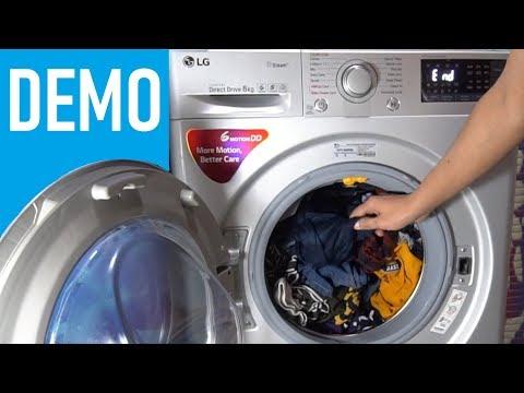 LG Front Load Washing Machine FHT1208SWL - Demo