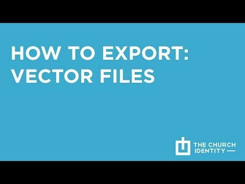 How To Export Vector Files