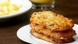Cheesy Baked Hash Brown Patties by Tasty