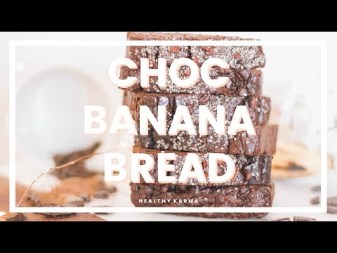 CHOC BANANA BREAD | Healthy, Refined Sugar Free, SImple Recipe