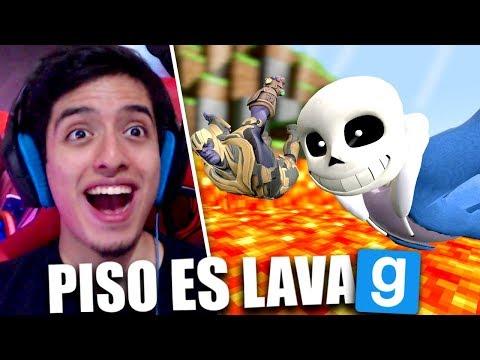 Garrys Mod - NO CAIGAS EN LA LAVA & DUBSTEP TROLL!! (Garry's Mod con Amigos)