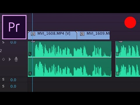 Adobe Premiere Pro CC Tutorial: How to Record an audio Voice-over to the timeline
