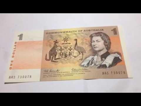 Australian $1 Dollar Bank Note