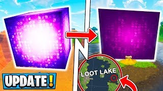 *NEW* Fortnite Update! | CUBE Has Moved, Loot Lake Event Ending! ( Season 5 )