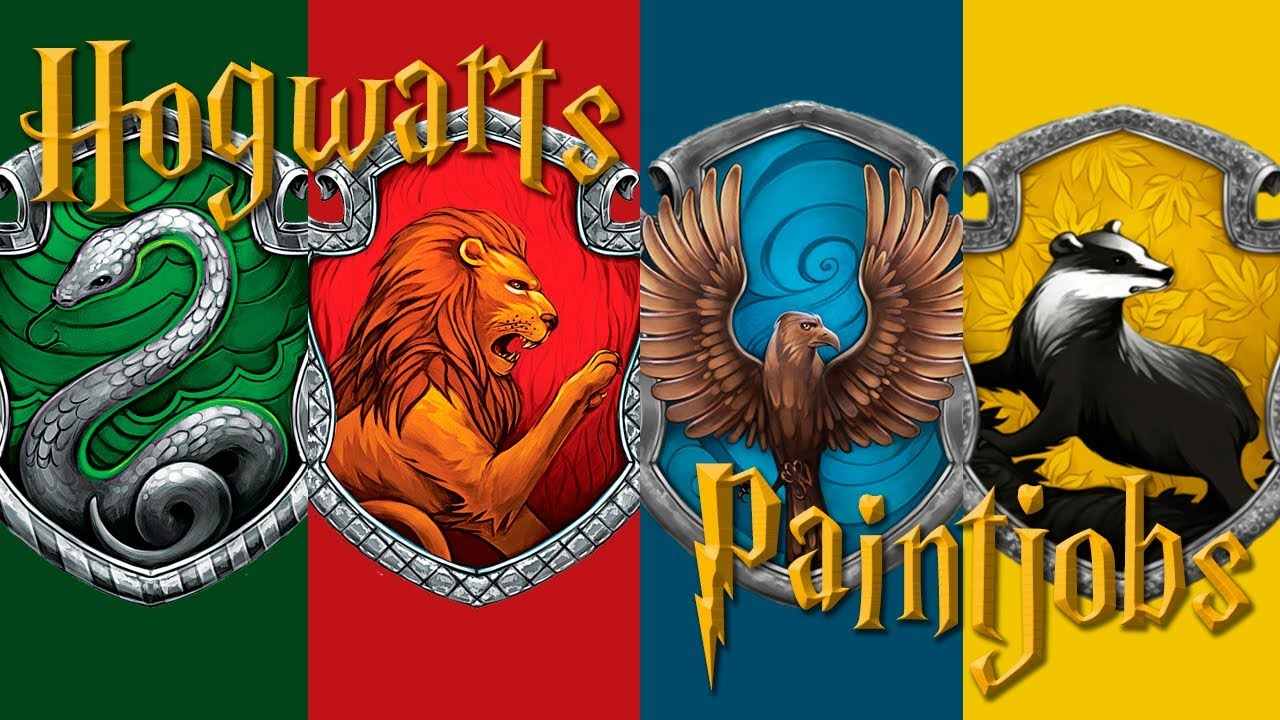 Hogwarts Houses Paintjobs
