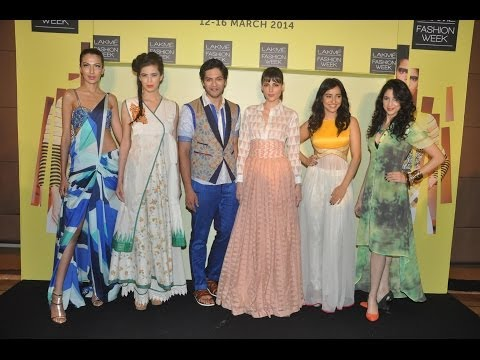 Mahi Gill,Neha Sharma At Press Meet Of Lakme Fashion Week Summer/Resort 2014