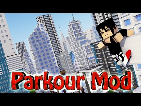 Minecraft | ULTIMATE PARKOUR MOD Showcase! (Slow Motion, Mirrors Edge, Free Running Mod) (видео)