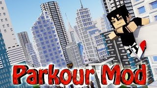 Minecraft | ULTIMATE PARKOUR MOD Showcase! (Slow Motion, Mirrors Edge, Free Running Mod)