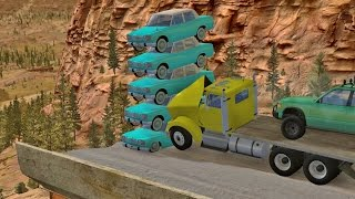 Hey all, this is BeamNG Drive Trucks VS Cars - Video 34. Trucks and Cars go head to head in various stunts with some fiery carnage as a result. Enjoy, and le...