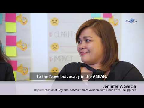 Image of the video: AGENDA Interview with Filipino Disability Rights Advocates