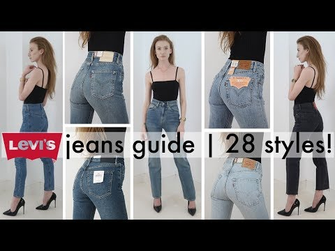 The ultimate try-on guide to women's Levi's jeans   EVERY STYLE!   2018