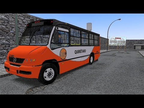 "OMSI 2   Marcopolo Boxer ""Querétaro"" Mexico   Escape Abierto y Turbo Simulado"
