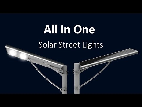 Integrated Outdoor Solar LED Street Lights