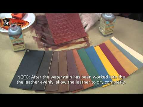 how to dye edge of leather