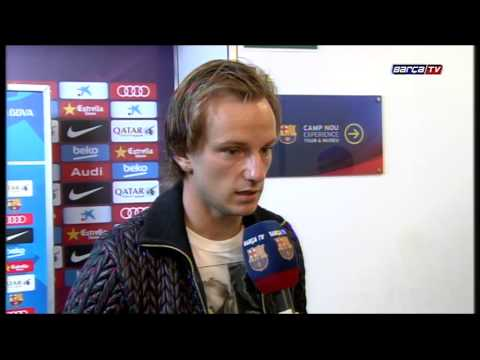 Ivan Rakitic and Claudio Bravo react to Clásico win
