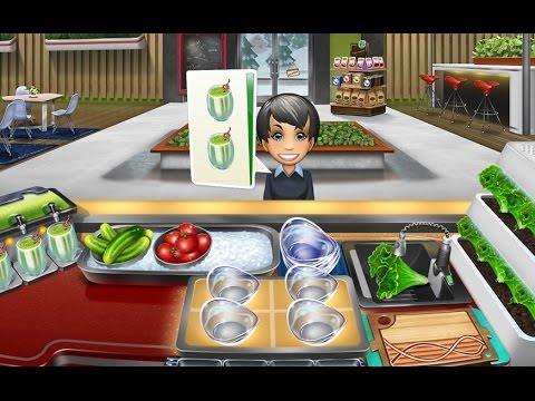 COOKING FEVER GAMEPLAY WALKTHROUGH PART 3 SALAD BAR Upgraded Gameplay Android / IOS