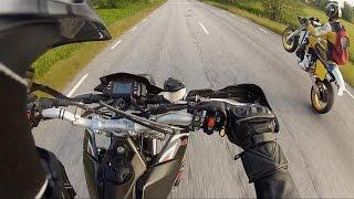 4. Aprilia SXV 550 chasing Husqvarna 500 CR | 2-stroke vs 4-stroke