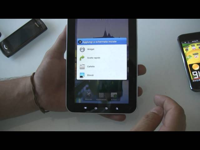 Samsung Galaxy Tab COMPLETE SOFTWARE TOUR and Comparison with iPad, iPhone 4, Galaxy S