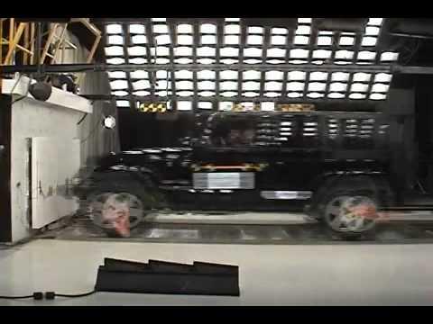 Jeep Wrangler 5D Краш тест Jeep Wrangler 3.8 2007 (NHTSA)