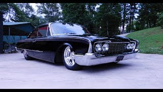 "A 1960 Ford Starliner built by Alloway's Hot Rod Shop...In this video I'm able to get a few minutes with The Man in Black...Bobby Alloway himself to tell me about this 1960 Starliner that was just debuted at the 2017 Goodguy's Nashville Nationals....A 429 Boss..under the hood....A Lipstick red interior by Pro Auto Custom Interiors by Steve Holcomb that looks like some kinda serious upgrade to the 1960's stock interior....Big wheels in the back...Small ones up front give it the only stance you will get at Alloway's Hot Rods....Black paint that looks a mile deep....The boys at Alloway's Hot Rod Shop always build cool..And this Starliner is no exception....Oh ya.... Crank it up... That ""Boss 9"" pounds the ground...Check it out!!!... Make sure you Subscribe to this Channel and Visit www.ScottieDTV.com For new cool content weekly!!!"