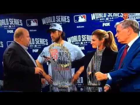 madison - Chevy Sales Rep gives Madison Bumgarner 2014 World Series MVP Award.
