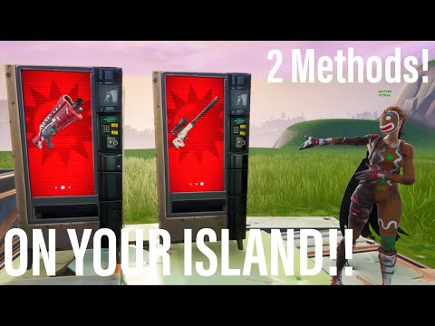 Get *VENDING MACHINES* On Your OWN ISLAND In Fortnite Creative Season 9! 2 Methods + More! Xbox/PS4