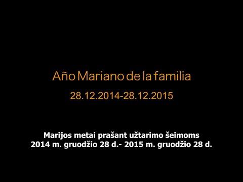 Paskelbti Marijos metai prašant užtarimo šeimoms