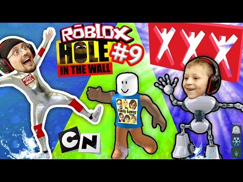 ROBLOX #9 HOLE IN THE WALL! + Extreme Cartoon Network Monsters Version W/ FGTEEV Duddy Challenge