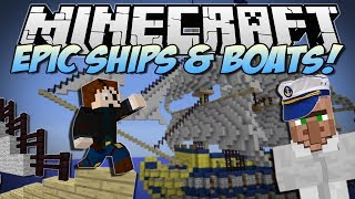 Minecraft | EPIC SHIPS&BOATS! (Turn Anything into a WARSHIP!) | Mod Showcase