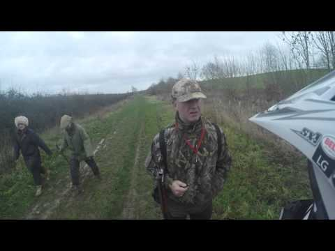 Man with a shotgun and a Green lane, Laning, byway confrontation