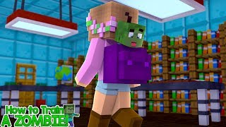 ZOMBIE BABY SNEAKS INTO SCHOOL   HOW TO TRAIN YOUR ZOMBIE   Minecraft Little Kelly
