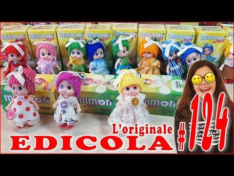 EDICOLA #124: MINIMON Le piccole monelle dei fiori Apriamo PACCO da 16 (by Giulia Guerra) (видео)