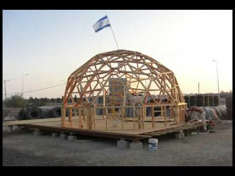 Geodesic dome כיפה גאודזית צימר מעץ בית עץ