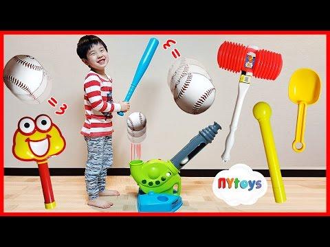 엽기 야구놀이 아빠 VS 아들 대결 피셔프라이스 장난감 놀이 시크릿 프렌즈 서프라이즈 에그 뉴욕이랑 놀자 NY Toys