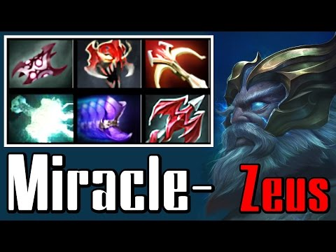 Miracle- Zeus - Dota 2 Gameplay (TRASH BUILD) (Ranked, 8849 MMR)