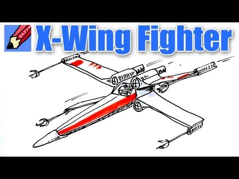 Draw a Star Wars X-wing Fighter Real Easy